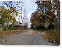 Plymouth Meeting Friends In Autumn Acrylic Print by Bill Cannon