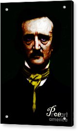 Poe Acrylic Print by Wingsdomain Art and Photography