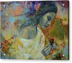 Poem At Twilight Acrylic Print by Dorina  Costras