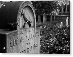 Poe's Original Grave Acrylic Print by Jennifer Ancker