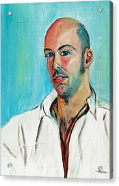 Poet And Spontaneous Rapper Acrylic Print by Asha Carolyn Young