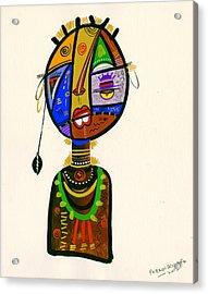 Poetic Faces Acrylic Print by Oglafa Ebitari Perrin