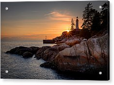 Point Atkinson Sunset Acrylic Print by Alexis Birkill