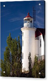 Point Betsie Lighthouse Michigan Acrylic Print by Adam Romanowicz