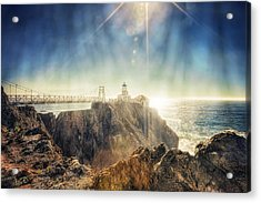 Point Bonita Lighthouse - Marin Headlands 3 Acrylic Print by The  Vault - Jennifer Rondinelli Reilly