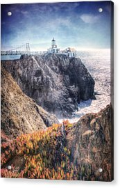 Point Bonita Lighthouse - Marin Headlands 5 Acrylic Print by The  Vault - Jennifer Rondinelli Reilly