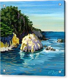 Point Lobos Rock Acrylic Print by Alice Leggett