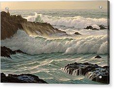 Point Lobos Seascape    Acrylic Print by Paul Krapf
