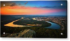Point Park Overlook Acrylic Print by Steven Llorca