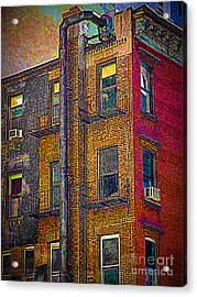 Pointillism In Steel And Brick Acrylic Print by Miriam Danar