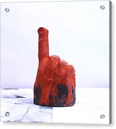 Pointing Finger Of Blame - Lava Acrylic Print by Mark M  Mellon