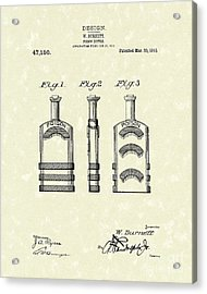 Poison Bottle 1915 Patent Art Acrylic Print by Prior Art Design