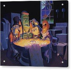 Poker Buddies Acrylic Print by Richard Moore
