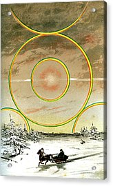 Polar Halo Acrylic Print by Collection Abecasis