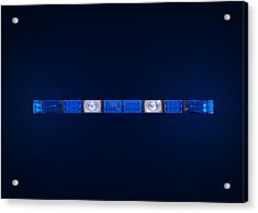 Police Emergency Lights With Blue Surrounding Light Acrylic Print by Fizzy Image