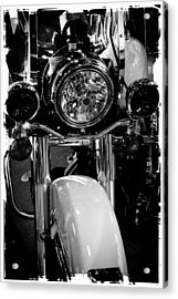 Police Harley II Acrylic Print by David Patterson