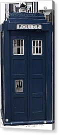 Police Phone Box Acrylic Print by Philip Ralley