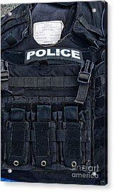 Police - The Tactical Vest Acrylic Print by Paul Ward