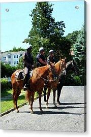 Policeman - Mounted Police Profile Acrylic Print by Susan Savad
