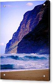 Polihale Beach Kauai Acrylic Print by Kevin Smith