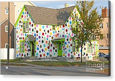 Polka Dot House Acrylic Print by Steve Augustin