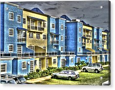 Polomar Apartments Acrylic Print by Gail Maloney