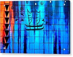 Polynesian Graffiti  Acrylic Print by Karon Melillo DeVega
