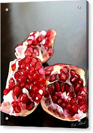 Pomegranate Detail Acrylic Print by Cole Black