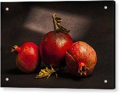 Pomegranates Acrylic Print by Peter Tellone