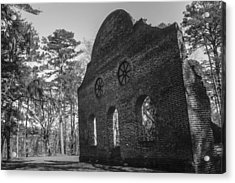 Pon Pon Chapel Of Ease 3 Bw  Acrylic Print by Steven  Taylor