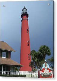 Ponce De Leon Inlet Light 3 Acrylic Print by Cathy Lindsey