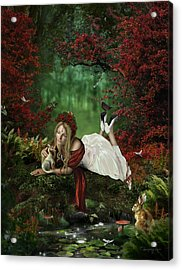 Pondering Acrylic Print by Cassiopeia Art