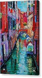 Ponte Raspi O Sansoni - Venice - Italy Acrylic Print by Mona Edulesco