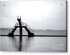 Pool By The Sea Acrylic Print by Olivier Le Queinec
