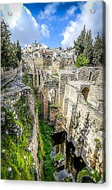 Pool Of Bethesda Acrylic Print by David Morefield