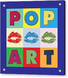 Pop Art Lips Acrylic Print by Gary Grayson