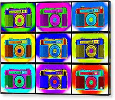 Pop Art Robin Proofs Acrylic Print by Mike McGlothlen