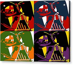 Pop Art Vader Acrylic Print by Dale Loos Jr