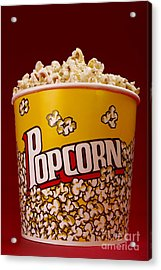 Popcorn Bucket Acrylic Print by Diane Diederich