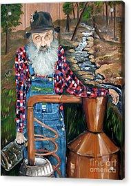 Popcorn Sutton - Bootlegger - Still Acrylic Print by Jan Dappen