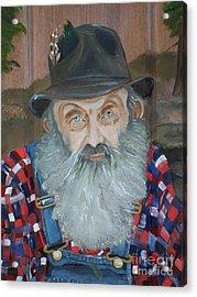 Popcorn Sutton - Moonshiner - Portrait Acrylic Print by Jan Dappen