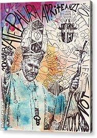 pope John paul Acrylic Print by Michael  Volpicelli