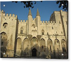 Popes Palace In Avignon Acrylic Print by Pema Hou