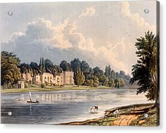 Popes Villa At Twickenham, 1828 Acrylic Print by William Westall