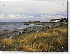 Popham Beach On The Maine Coast Acrylic Print by Keith Webber Jr