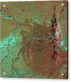 Popigai Crater Acrylic Print by Nasa