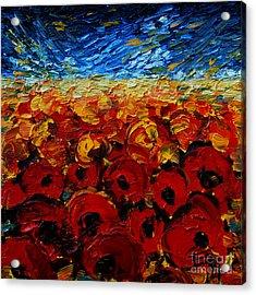 Poppies 2 Acrylic Print by Mona Edulesco