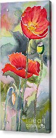 Poppies 3 Acrylic Print by Mohamed Hirji