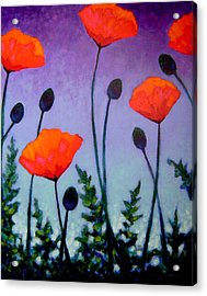 Poppies In The Sky II Acrylic Print by John  Nolan