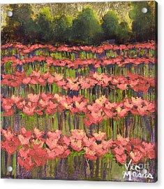 Poppy Romance Acrylic Print by Vic  Mastis